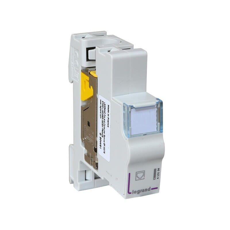 LEGRAND Module de brassage blindé catégorie 6A STP avec connecteur LCS³ certifié PoE++ - 1 module