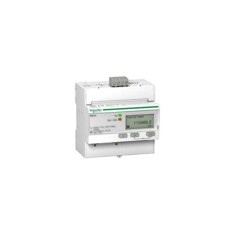 SCHNEIDER Acti9 iEM - compteur d'énergie tri - 63A - multitarif - alarme kW - Modbus - MID