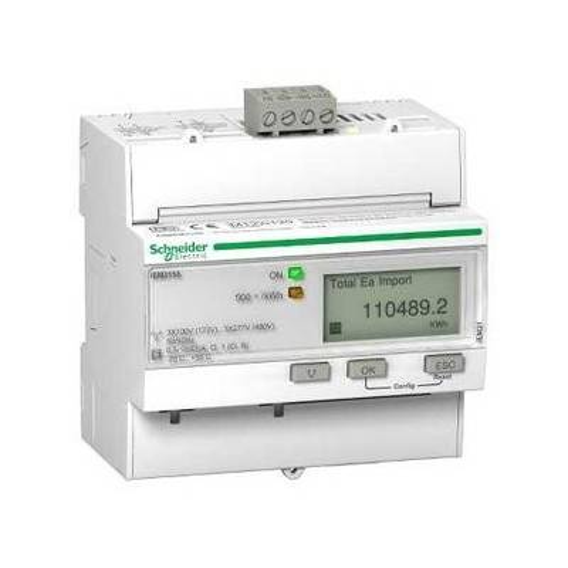 SCHNEIDER Compteur d'énergie triphasé 63A - multitarif - alarme kW - Modbus - MID - Acti9 iEM