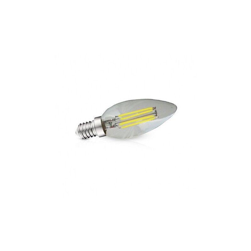 VISION EL Ampoule LED E14 filament flamme 4W 4000°K - Blister de 3