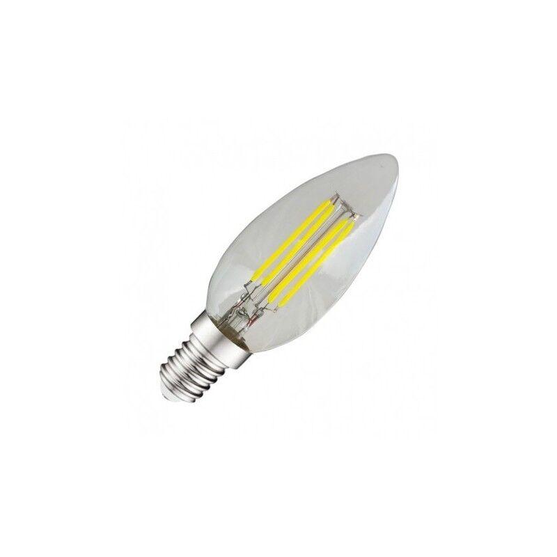 VISION EL Ampoule LED E14 COB filament flamme 4W 4000°K