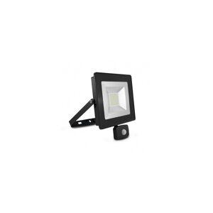 VISION EL Projecteur extérieur LED plat 50W 6000°K + détecteur- Gris - Publicité