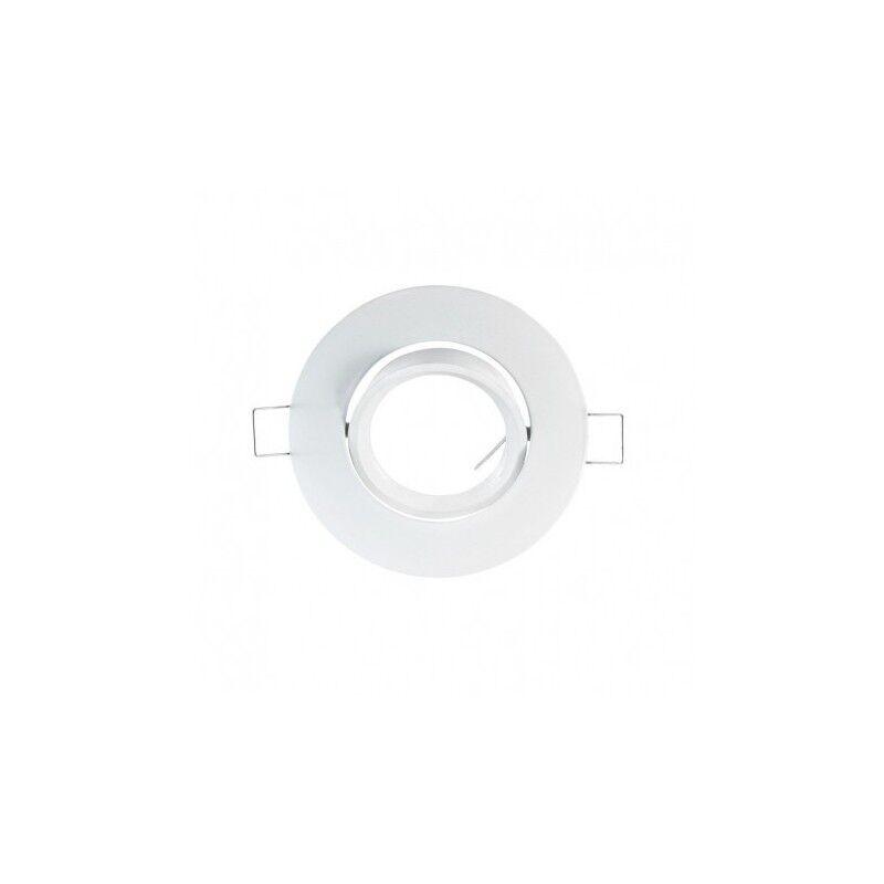 VISION EL Support plafond rond orientable blanc Ø93mm