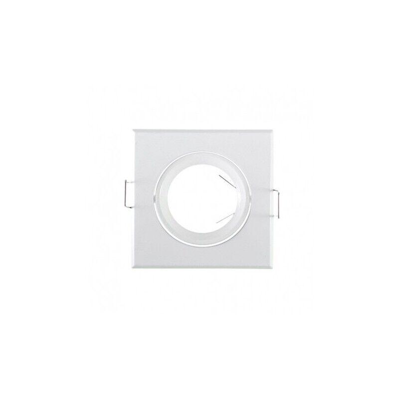 VISION EL Support plafond carré orientable blanc 84x84mm