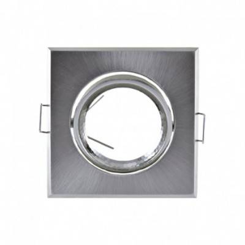 VISION EL Support plafond carré orientable argent 83x83mm