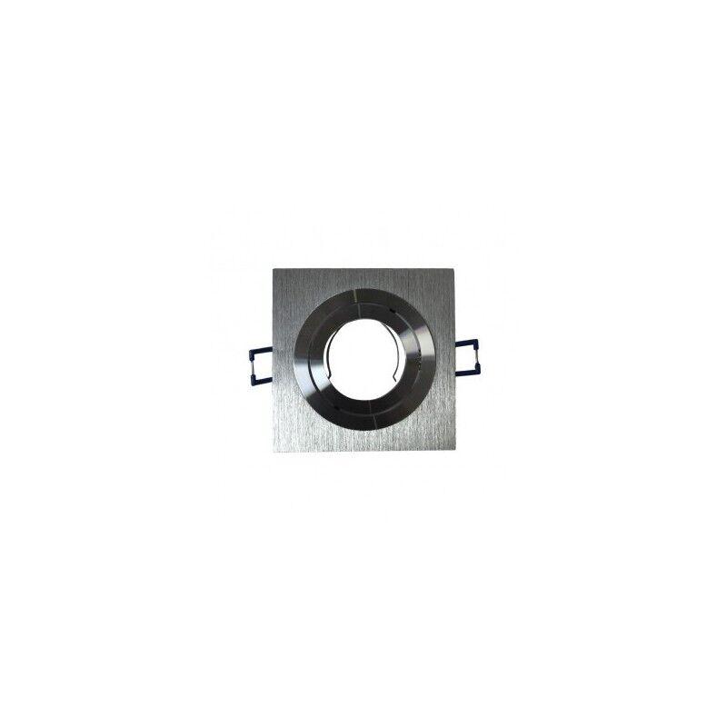 VISION EL Support de spot carré aluminium orientable 92x92mm
