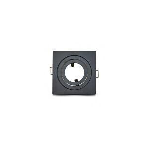 VISION EL Support de spot carré aluminium noir mat orientable 88x88mm - Publicité