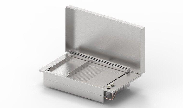 Plancha encastrable gaz 2 plaques cuisson - Oasi 80MIX