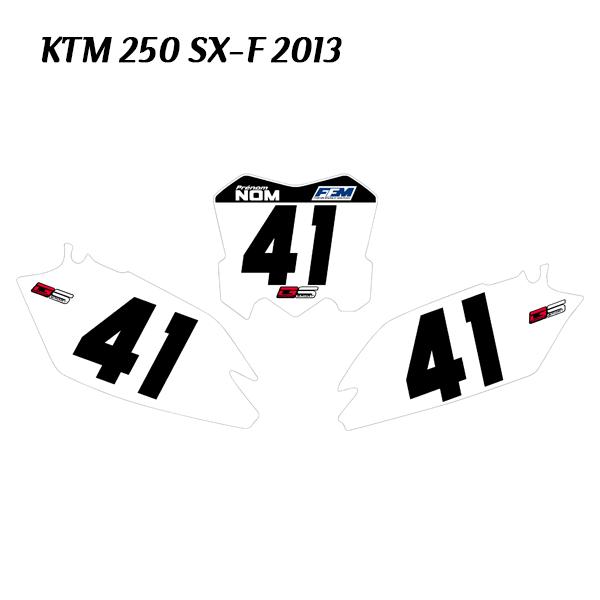 No Name Kit plaques personnalisé KTM SXF 250