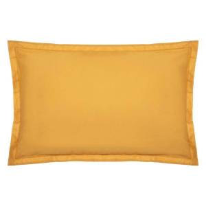 Atmosphera Taie d'oreiller en coton, jaune moutarde 50x70 cm DTE_2021 Unisexe - Publicité
