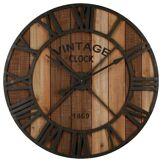 Atmosphera Pendule Vintage Marron en métal & bois D91