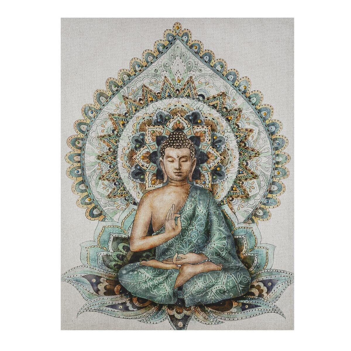Atmosphera Toile imprimé Bouddha 58x78