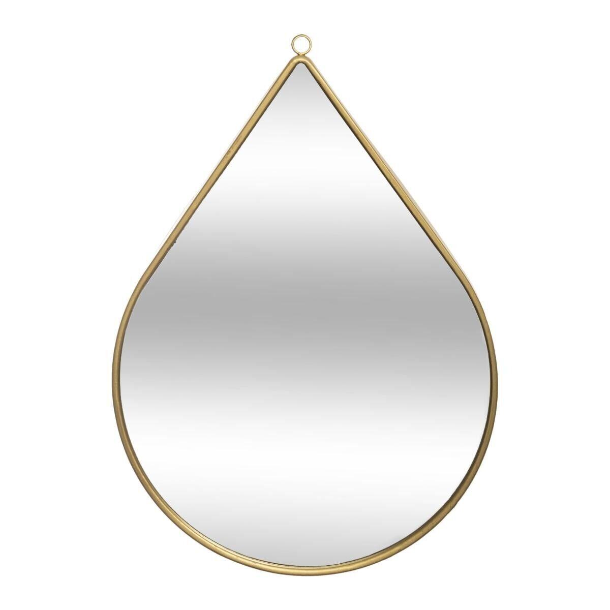 """Atmosphera Miroir """"Goutte"""", métal doré 21x29 cm"""
