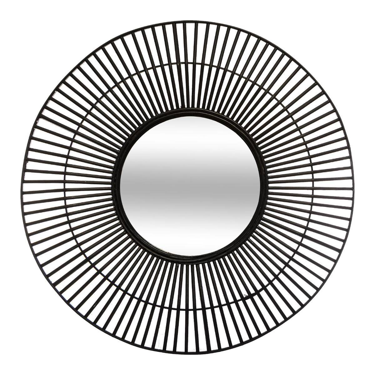 Atmosphera Miroir noir en bambou D77 cm