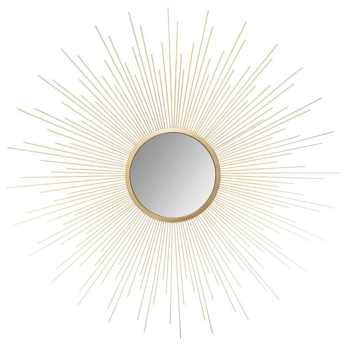 Atmosphera Miroir bombé Soleil Or D70