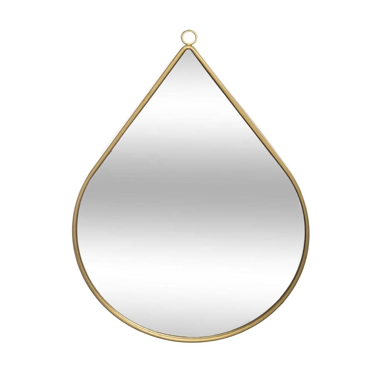 """Atmosphera Miroir """"Goutte"""", métal doré 28x39 cm"""