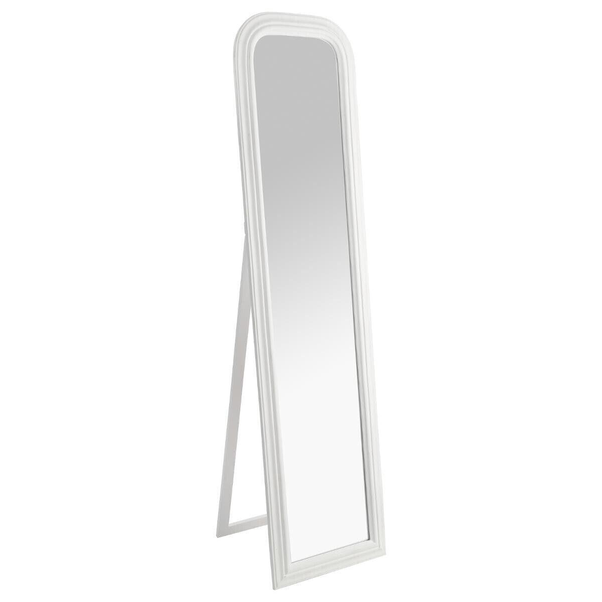 "Atmosphera Miroir sur pied ""Adele"" blanc H160 cm"