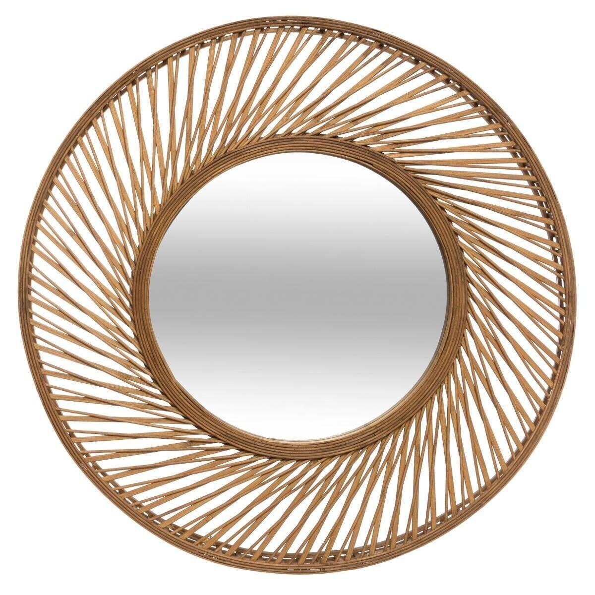 Atmosphera Miroir 'Spirale', bambou D72 cm