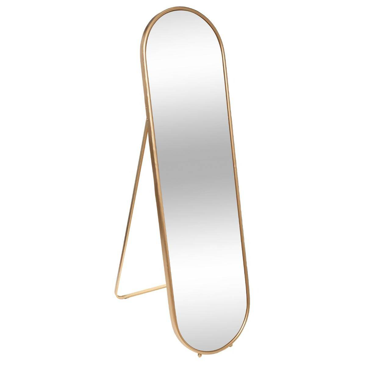 """Atmosphera Miroir sur pied """"Edi"""" doré, métal 160x44 cm"""