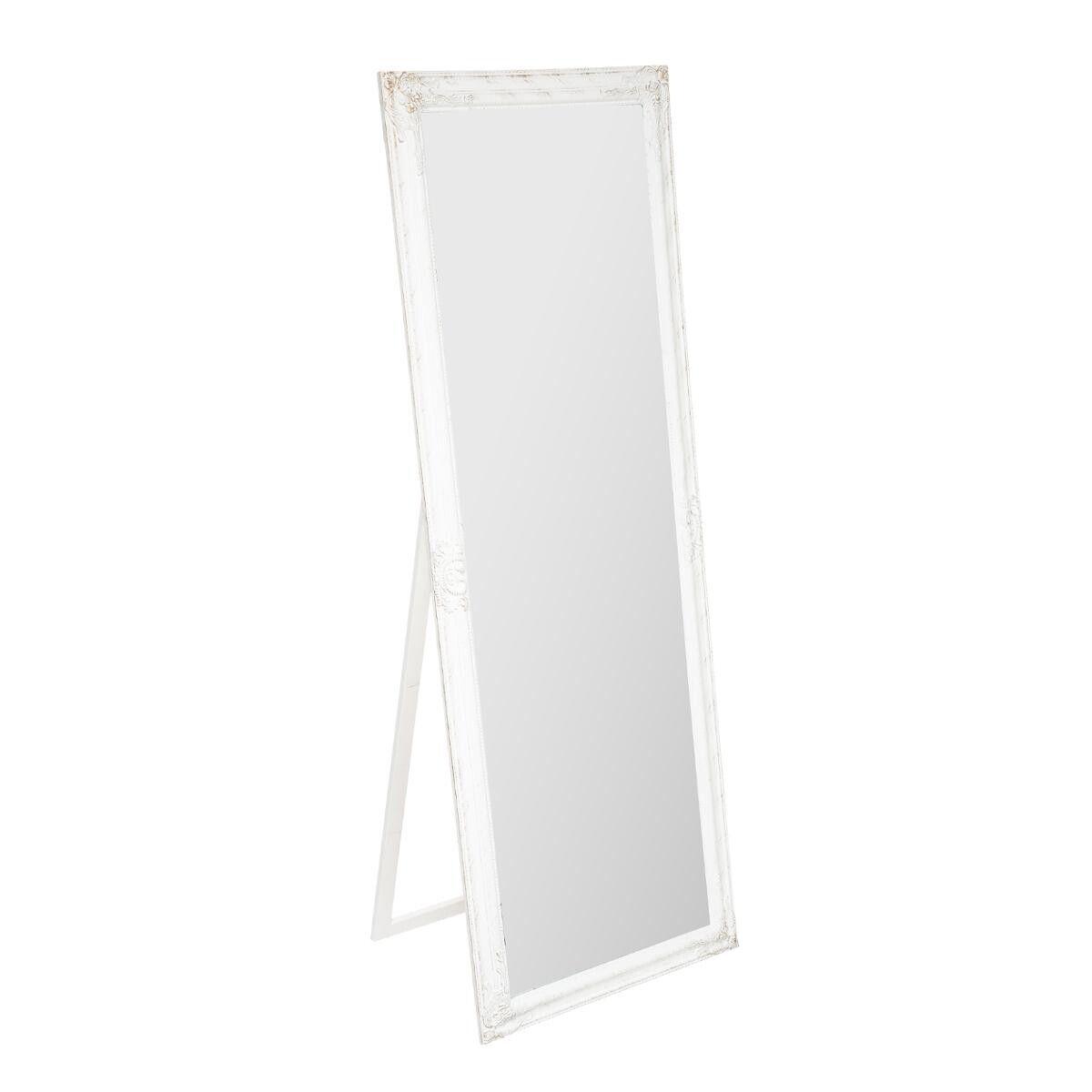 Atmosphera Miroir sur pied, bois, blanc 62x172 cm