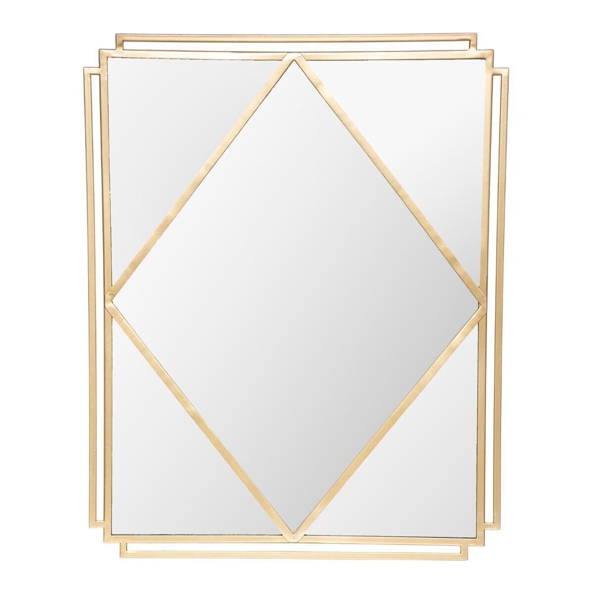 Atmosphera Miroir 'Suite', métal, doré 54x68 cm