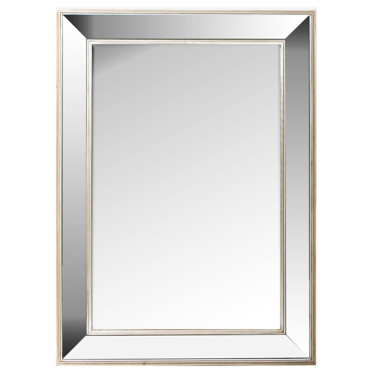 Atmosphera Miroir 'Tajmal' argenté 82x112 cm