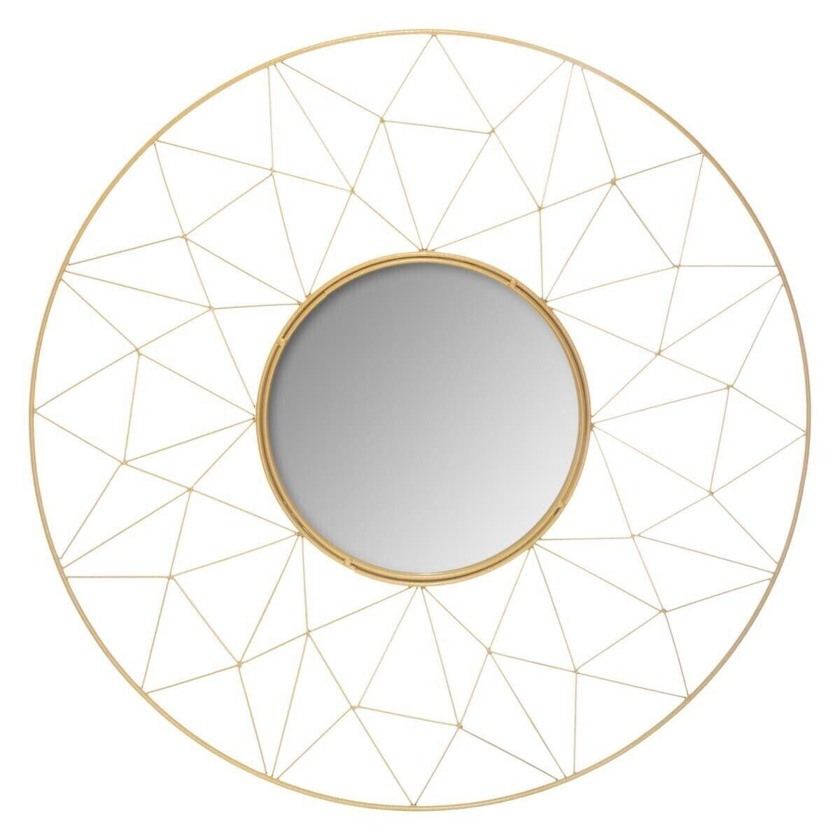Atmosphera Miroir Graphique Or en métal D50