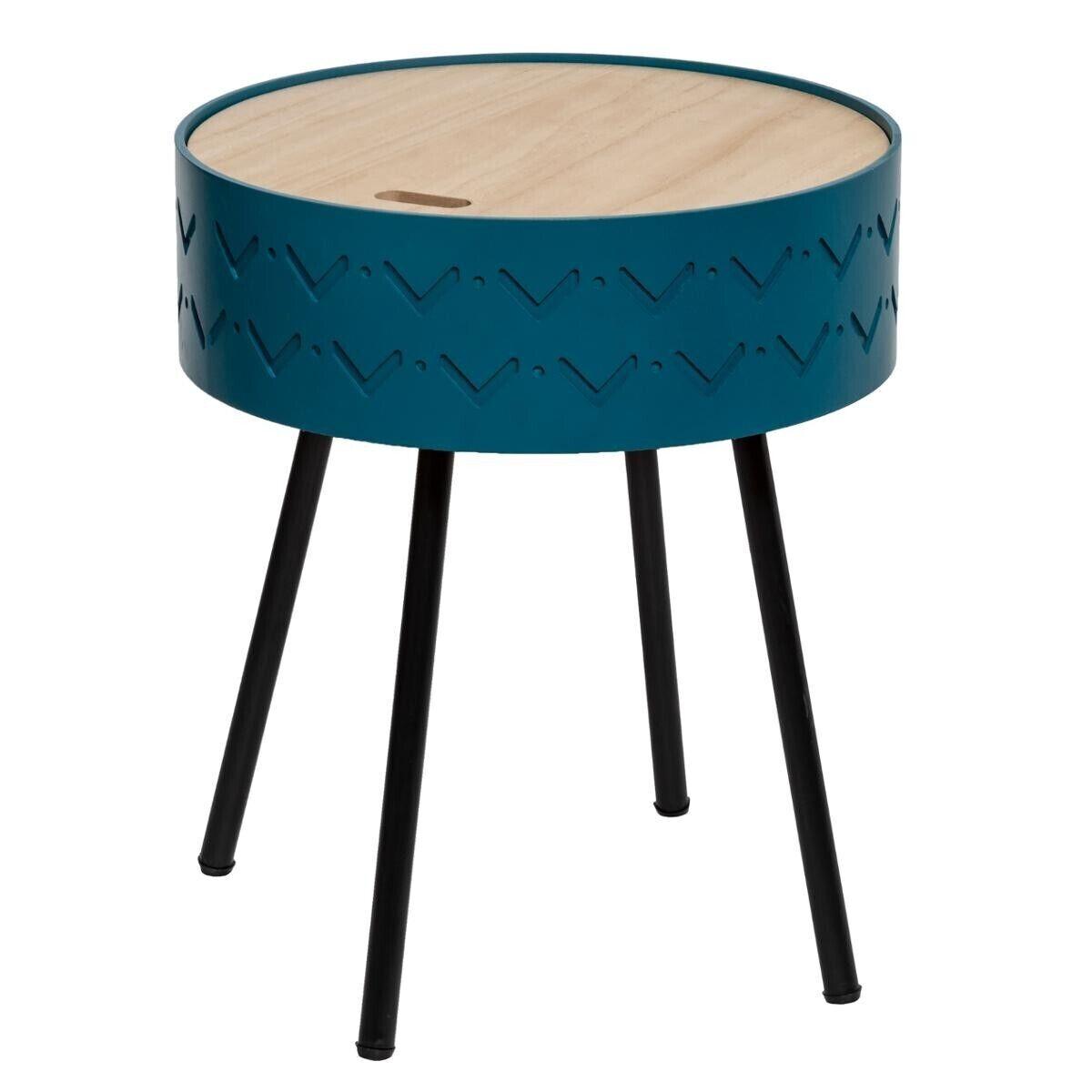 """Atmosphera Table à café coffre """"Shiro"""" bleue"""
