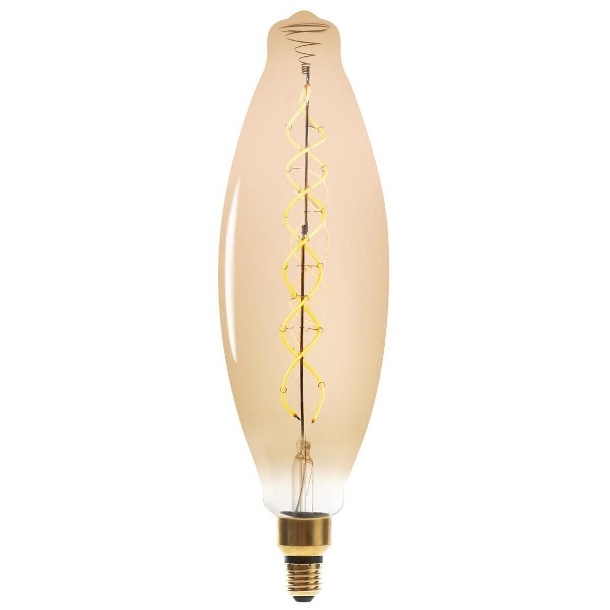 """Atmosphera Ampoule LED """"Amande"""" ambrée, filament torsadé E27"""