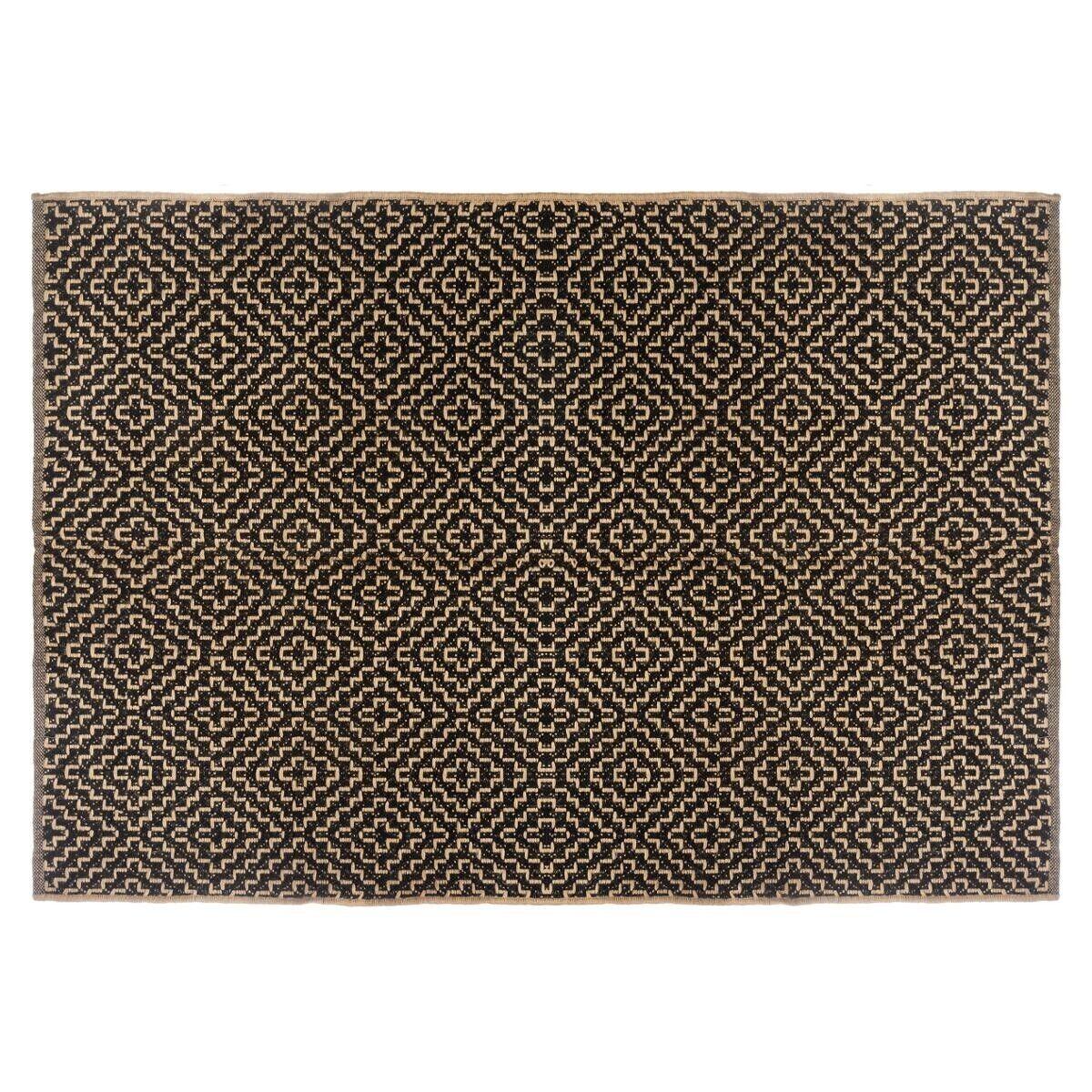 Atmosphera Tapis noir en jute coton 120x170 cm