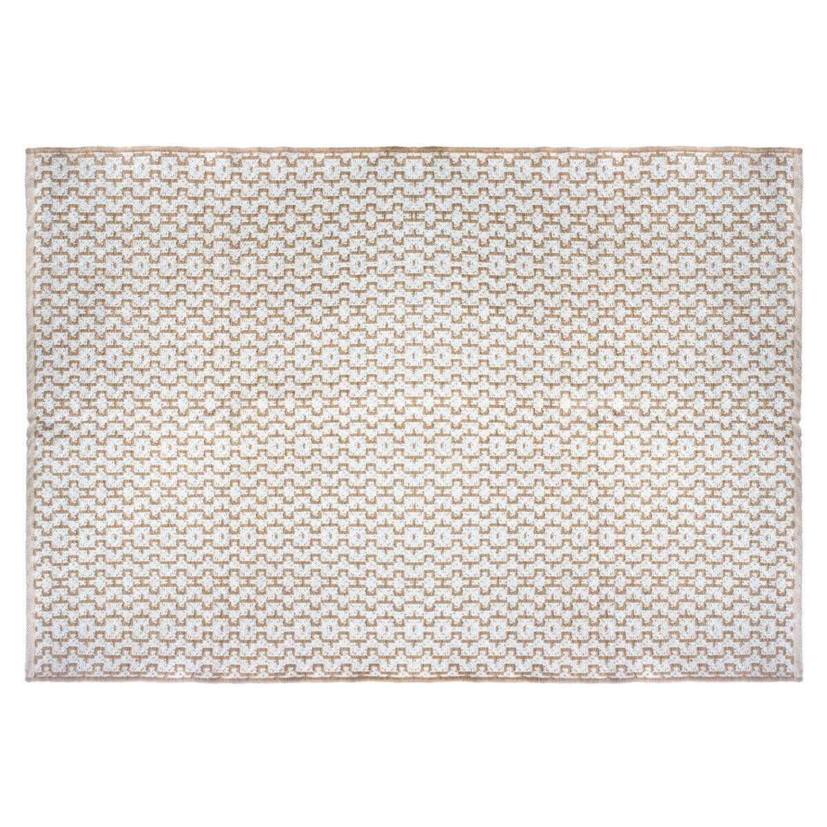 Atmosphera Tapis blanc en jute coton 120x170 cm