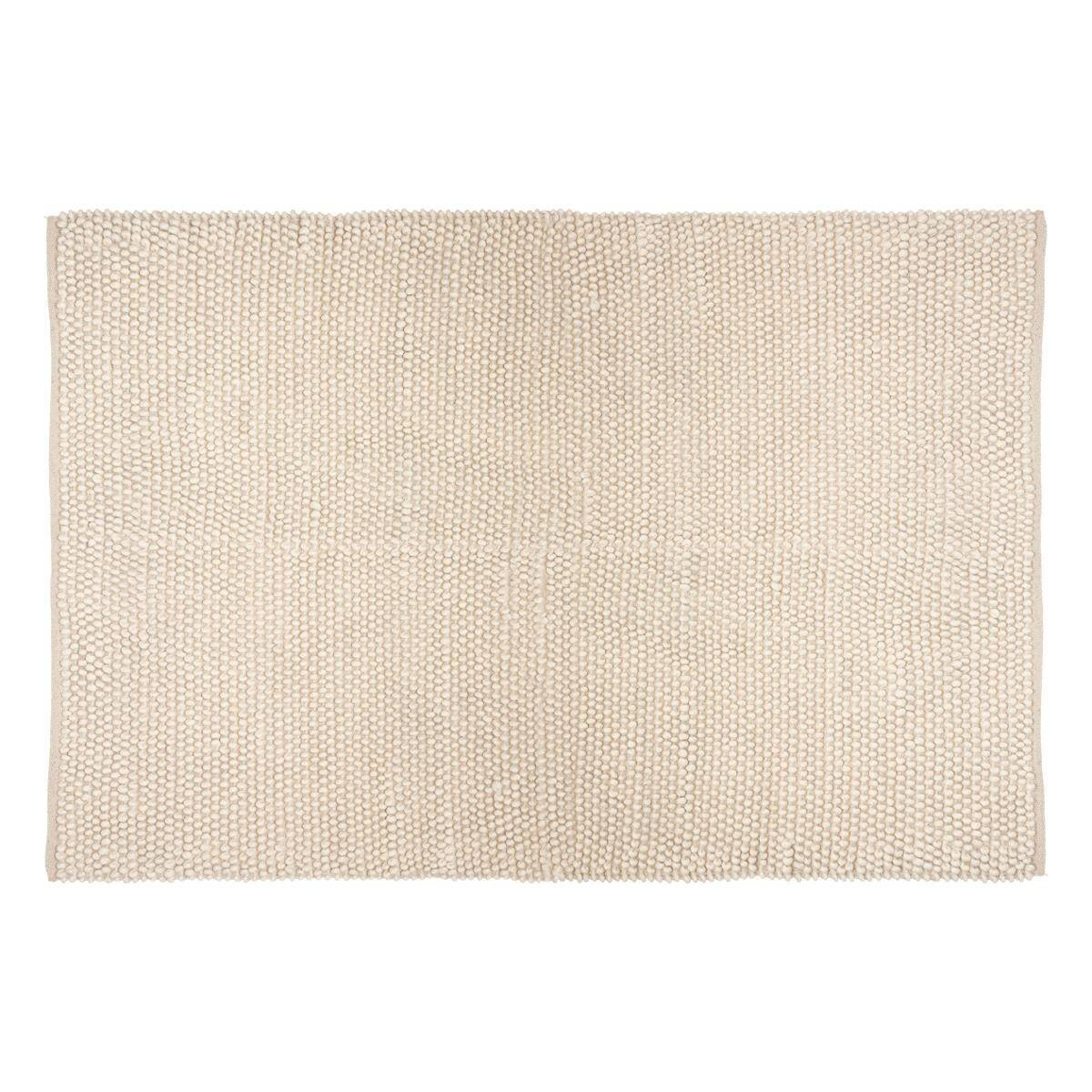 "Atmosphera Tapis ""Mix"", laine coton, ivoire 120x170 cm"
