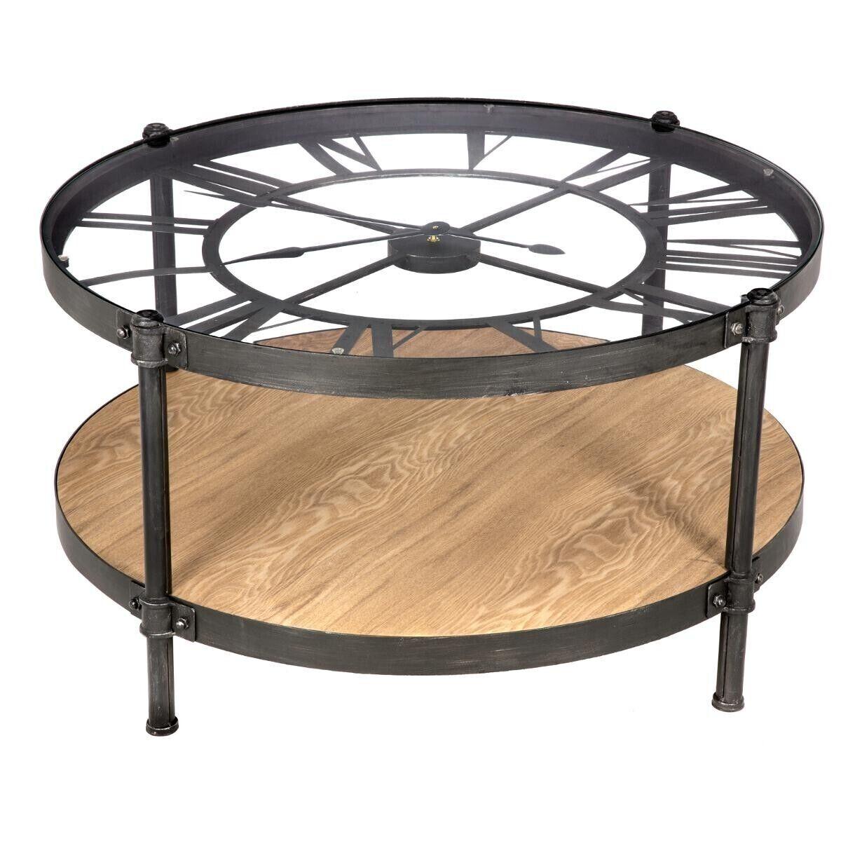 Atmosphera Table basse chrono 'Danik' D90 cm