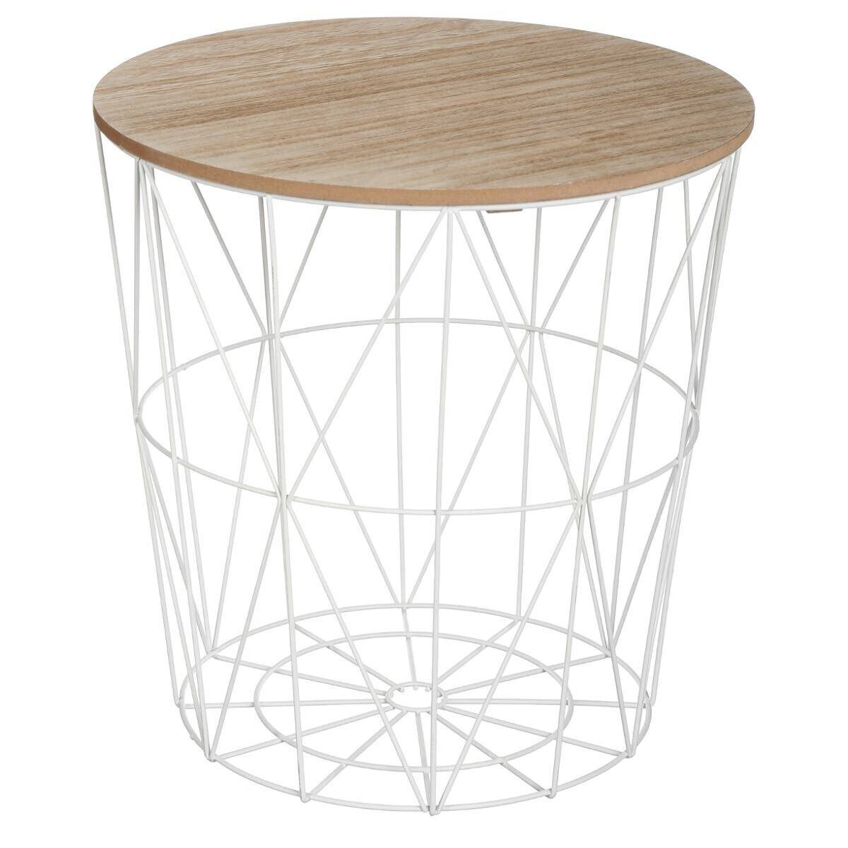 "Atmosphera Table à café Blanche ""Kumi"" en métal Moyen modèle"