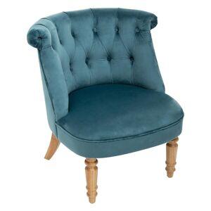 Atmosphera Fauteuil crapaud bleu en velours - Publicité