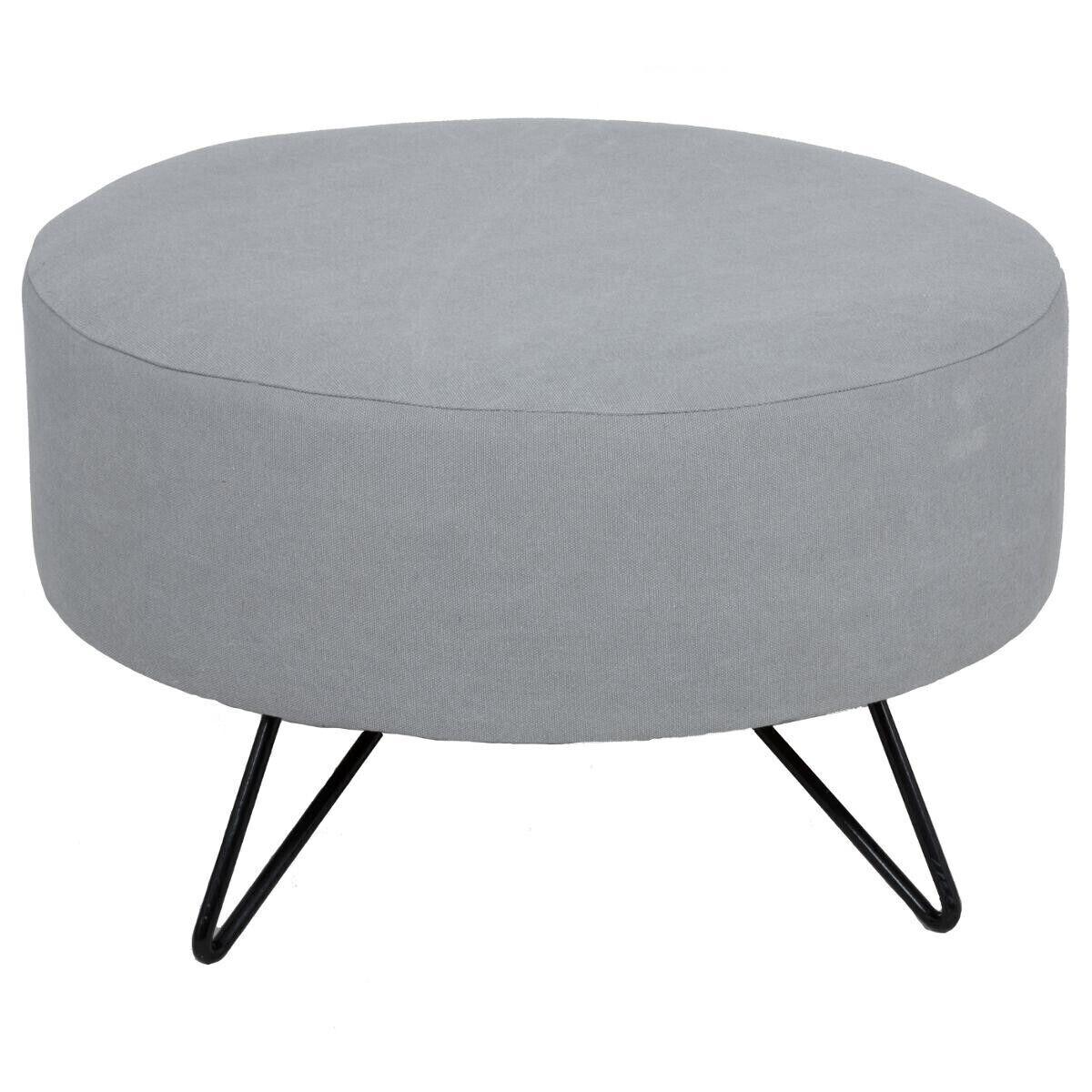 """Atmosphera Pouf stone wash """"Sven"""" Grand modèle"""