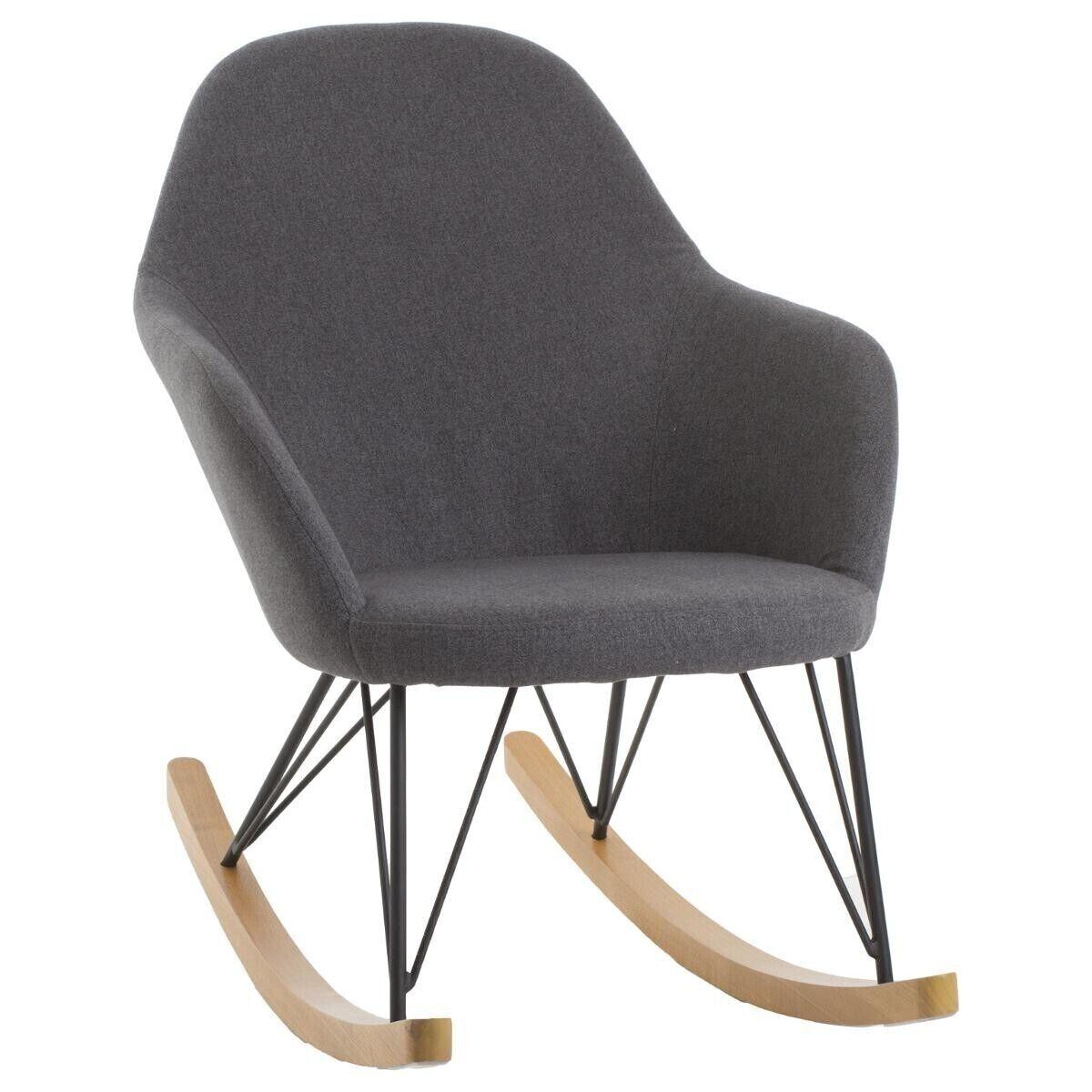 """Atmosphera Rocking chair """"Ewan"""" gris"""