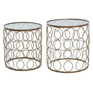 Atmosphera Set de 2 tables d'appoint en métal - Publicité