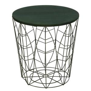 """Atmosphera Table à café """"Kumi"""" feuille verte D40 cm - Publicité"""