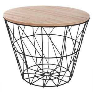 """Atmosphera Table à café """"Kumi"""" noire D38 cm - Publicité"""