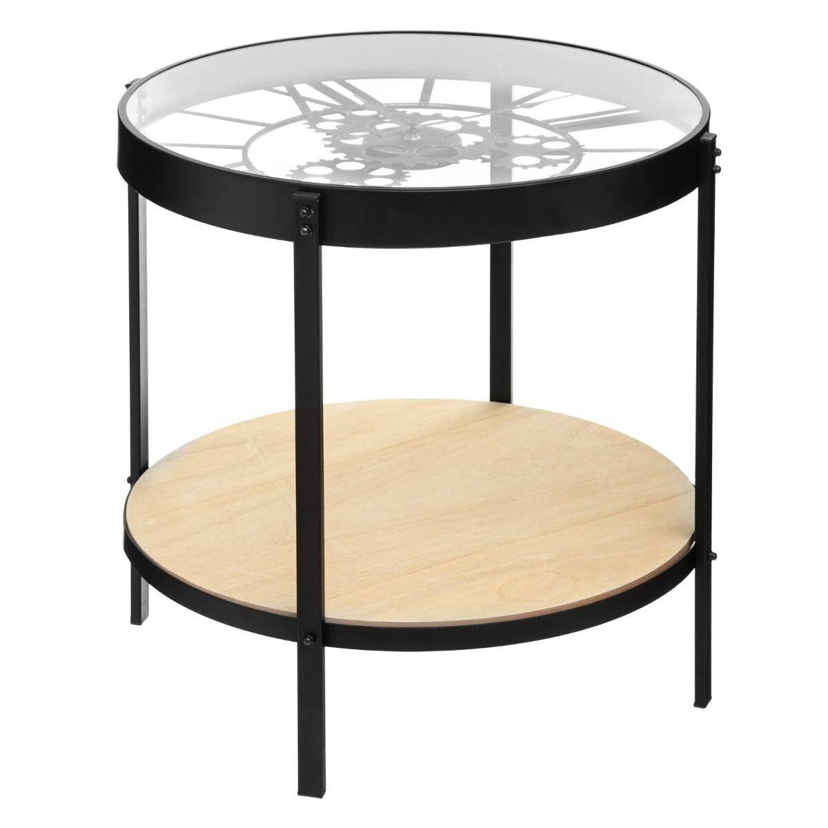 Atmosphera Table à café horloge D51 cm