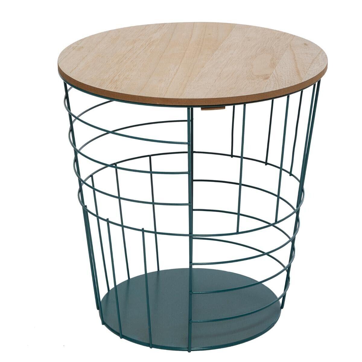 """Atmosphera Table à café """"Kumi"""" pop bleue D40 cm"""