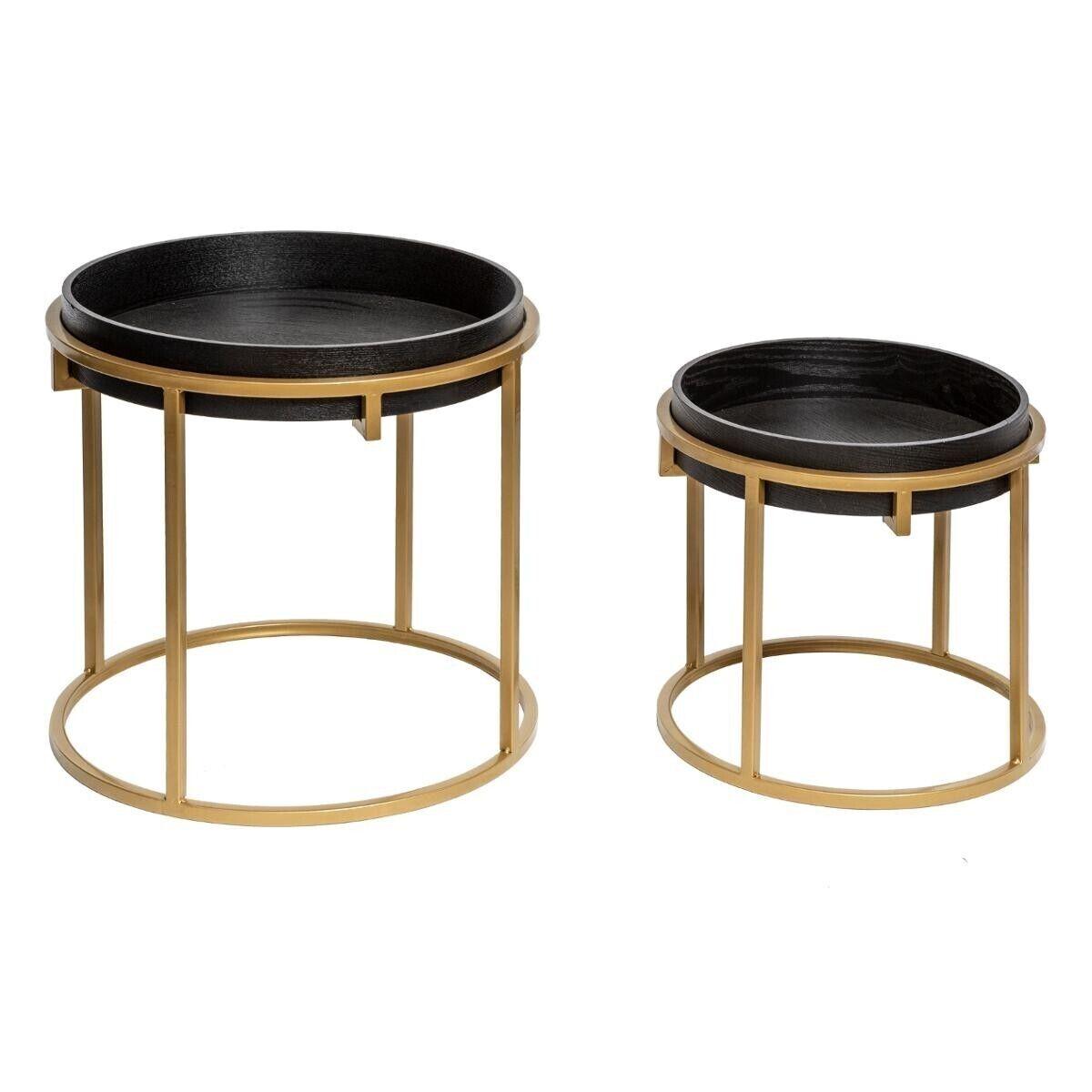 Atmosphera Set de 2 tables à café rondes