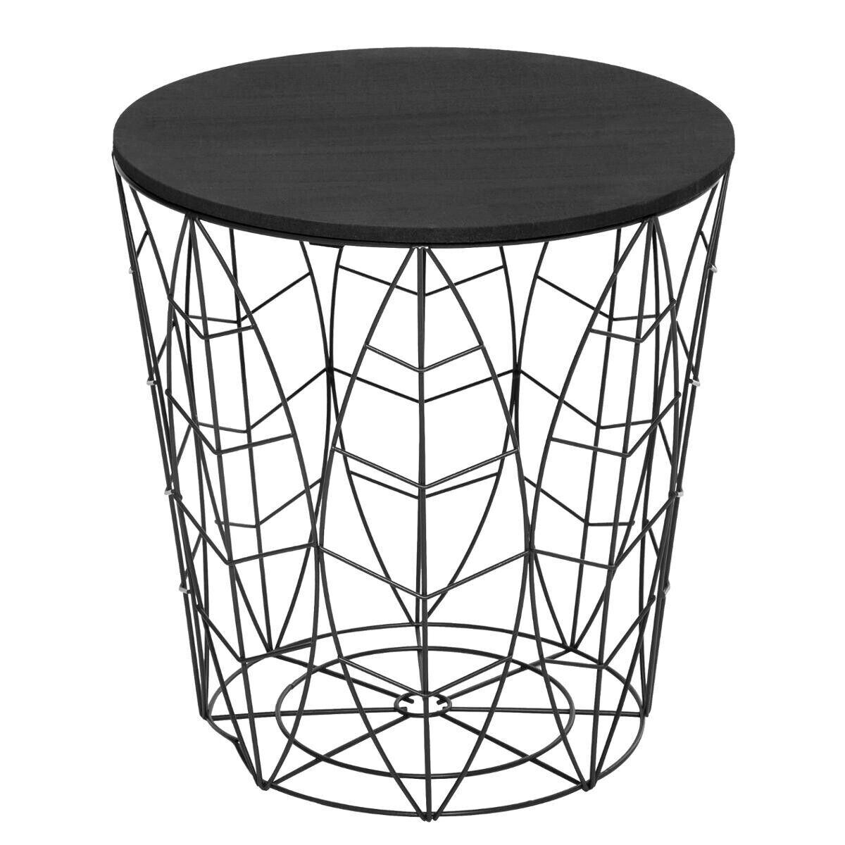 """Atmosphera Table à café """"Kumi"""" feuille noire D40 cm"""