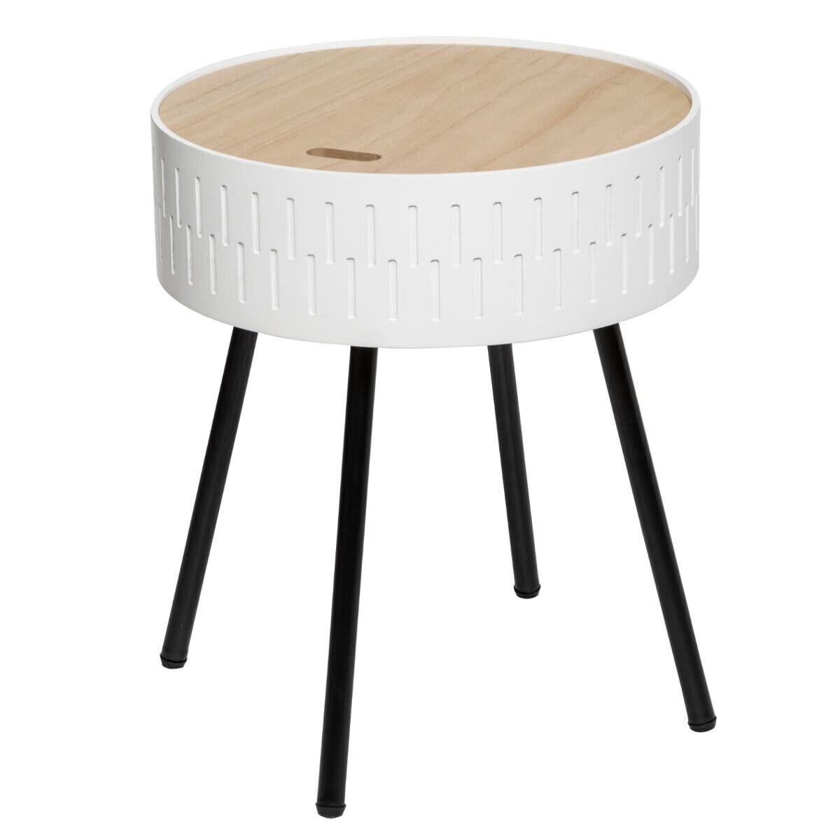 "Atmosphera Table à café coffre ""Shiro"" blanche"