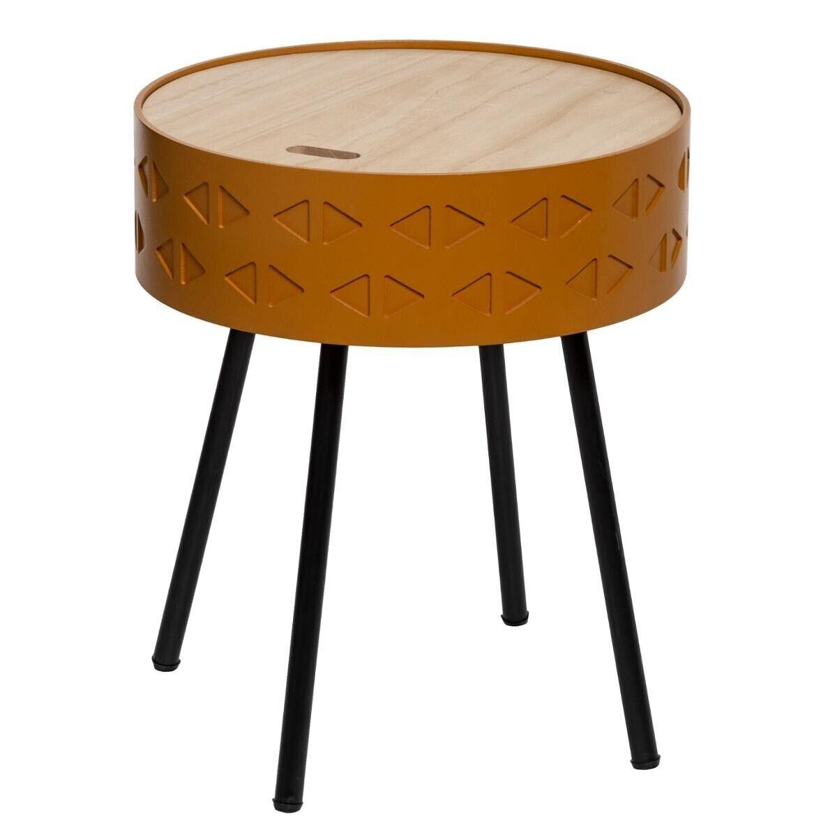 """Atmosphera Table à café coffre """"Shiro"""" moutarde"""