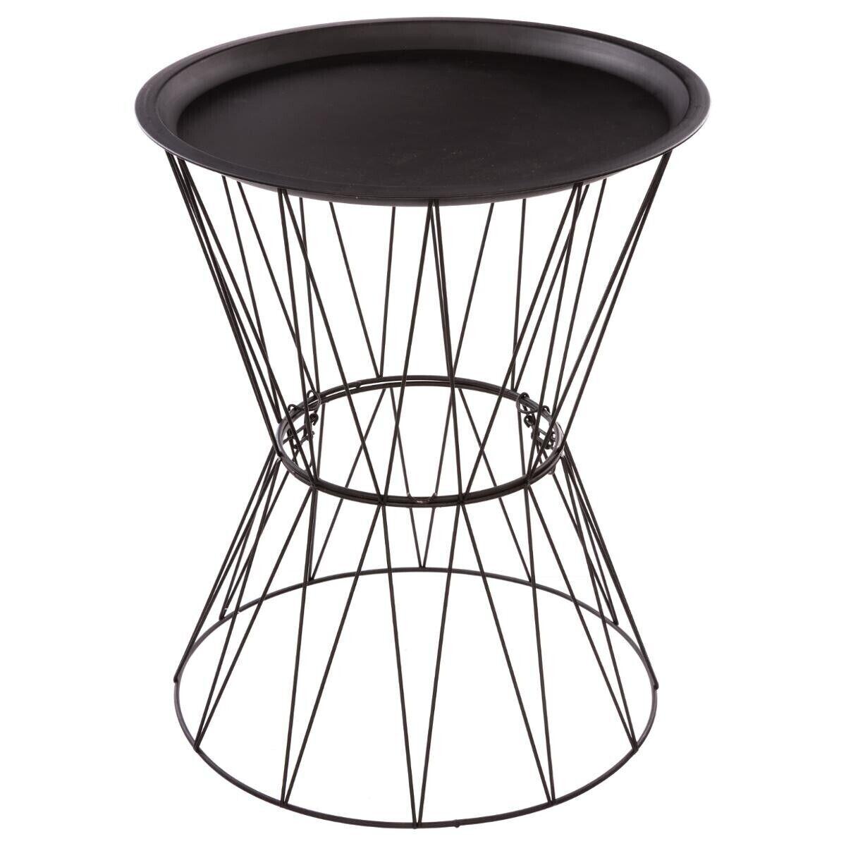 """Atmosphera Table à café """"Kate"""" noire, métal filaire"""