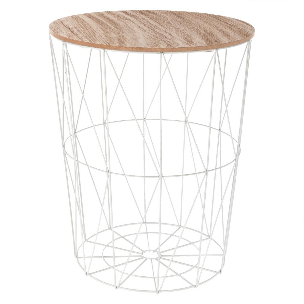 """Atmosphera Table à café """"Kumi"""" blanche D47 cm"""