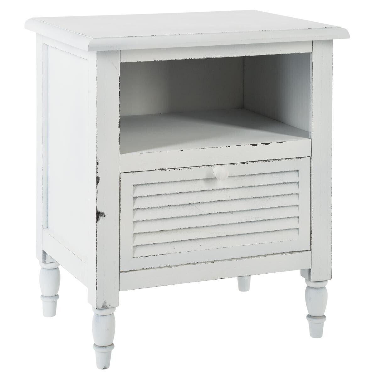 """Atmosphera Table de chevet """"Été Indien"""" blanche"""