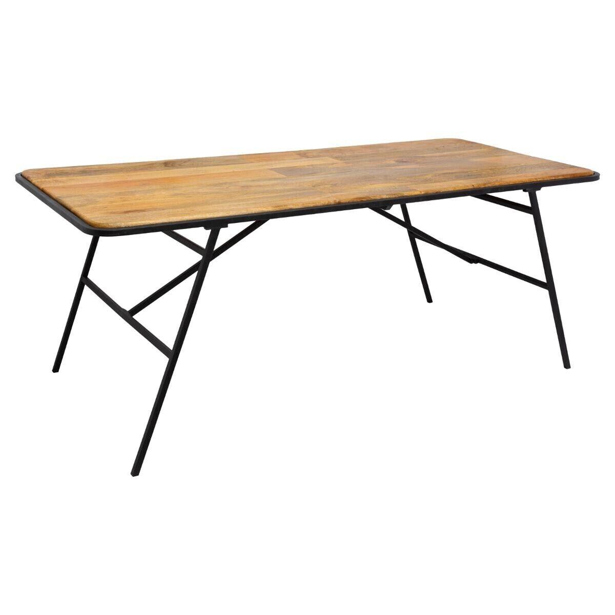"""Atmosphera Table à manger """"Kalida"""" en bois de manguier acier"""